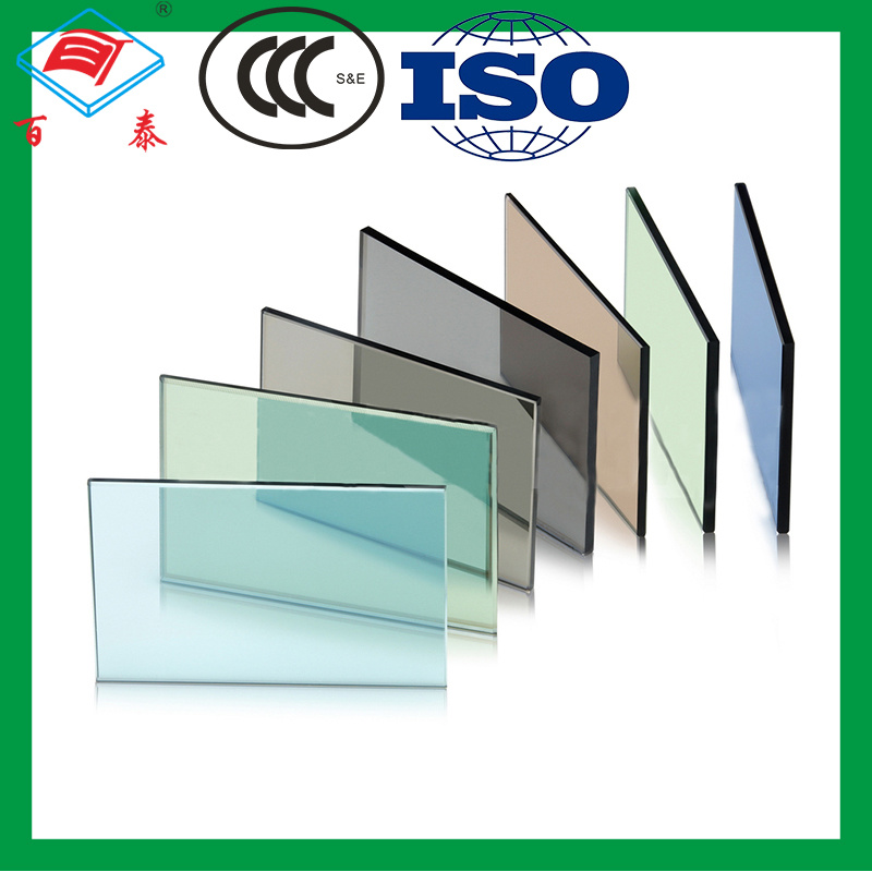 hot item building curtain wall shatterproof patterned personalized blue reflective splashback glass philippines price