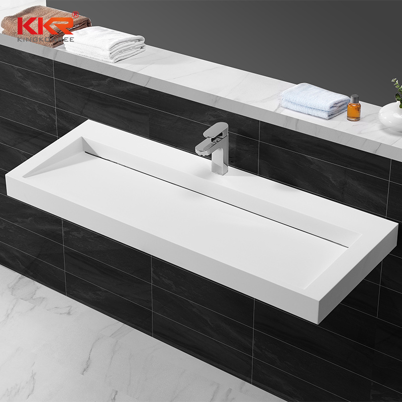 hot item kingkonree various design corian solid surface bathroom custom bathroom countertop basin vanity sink