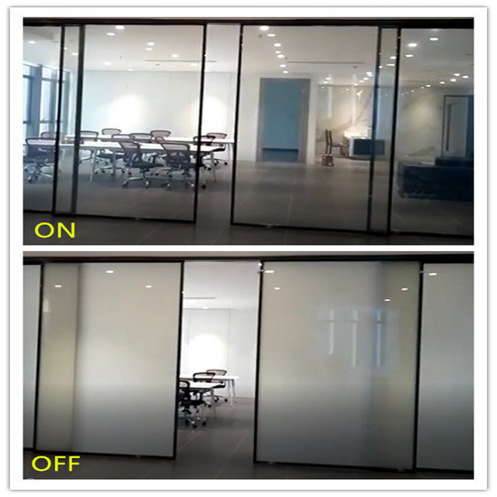 smart switchable glass for sliding door