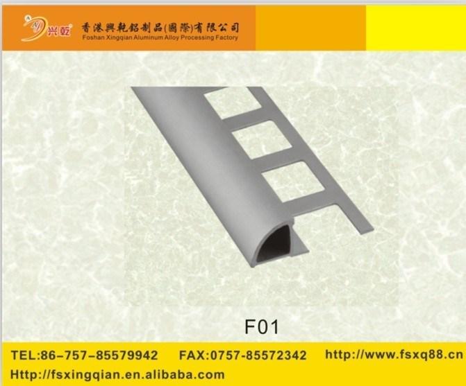 hot item ceramic tile edge trim aluminum tile trim round edge aluminum tile trimming line
