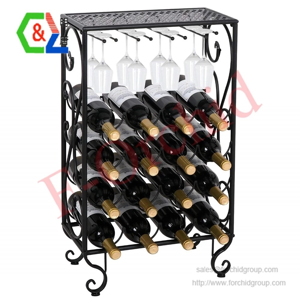 china 16 bottles wine rack table with