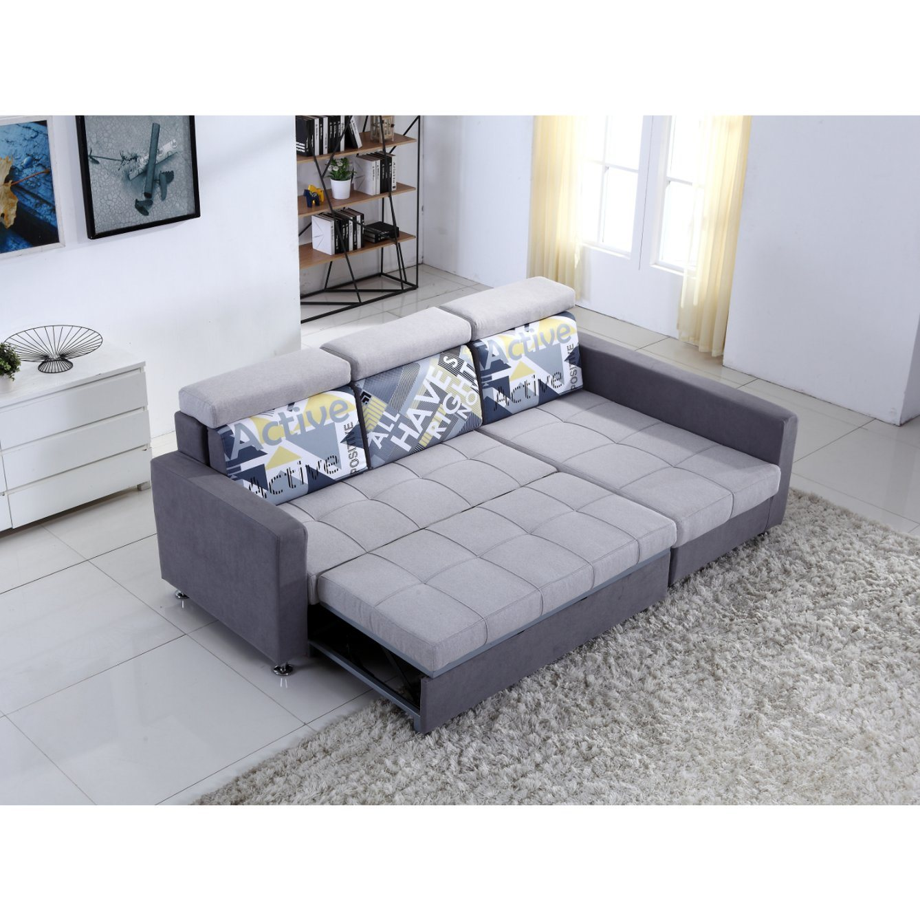china small l shaped fabric sofa with