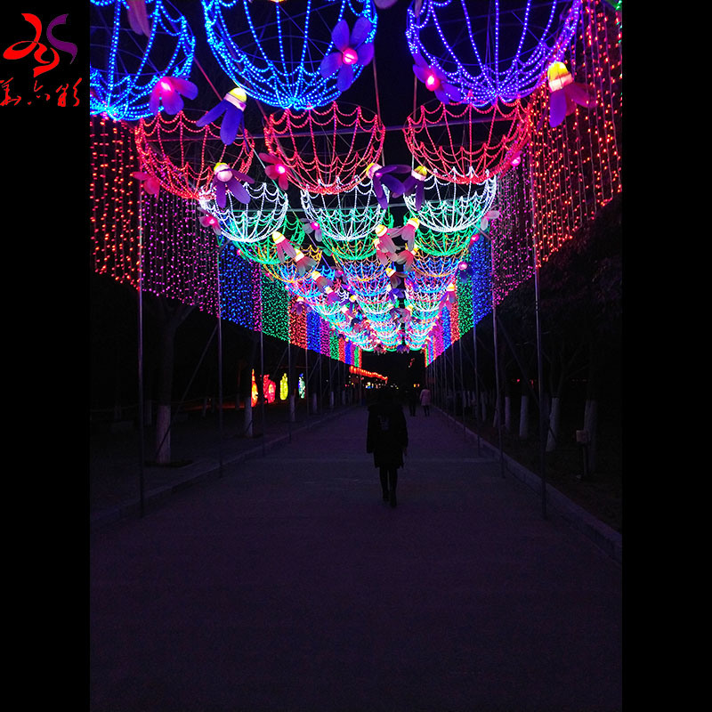 china outdoor christmas street tunnel
