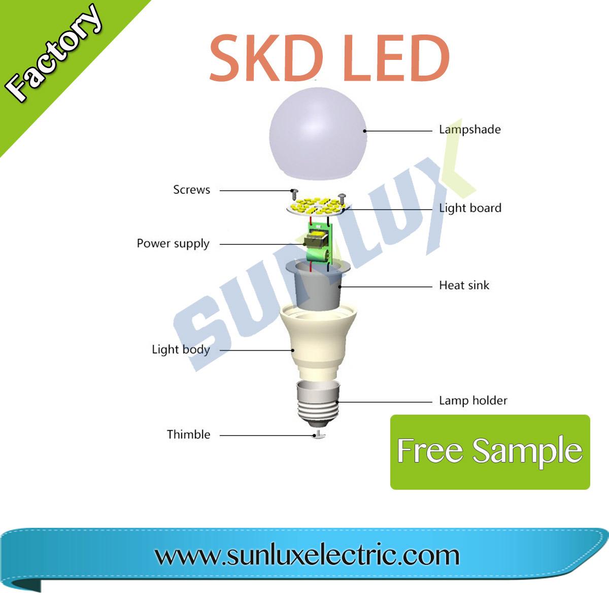 China Skd 7w 12w 110v 220v K K Led Lights Raw