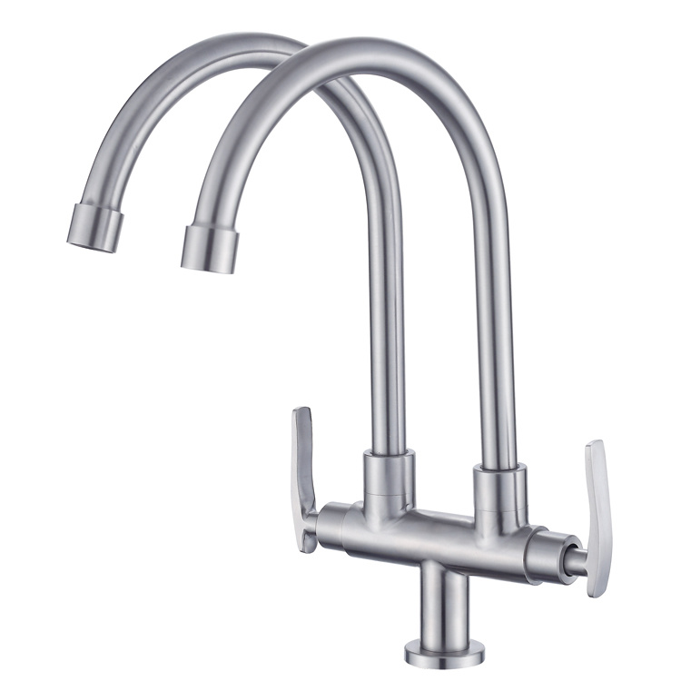 china double outlet pipes dual handles