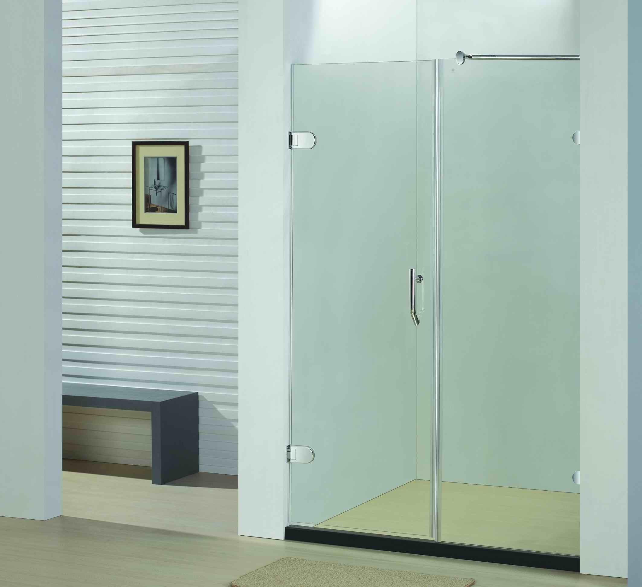 Hot Item Bathroom 8mm Glass Frameless Hinge Shower Door Shower Enclosure By920