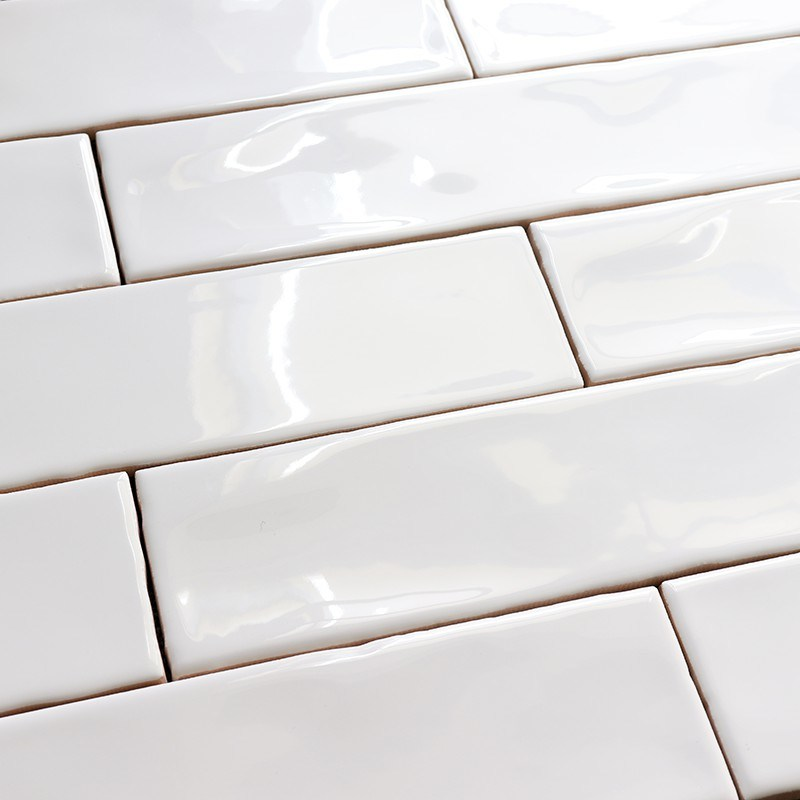 hot item 75x300mm home decoration interior design white wavy edge ceramic wall tile