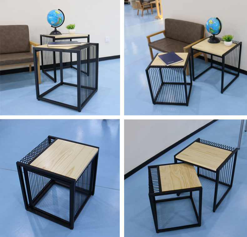 china outdoor iron nesting side tables
