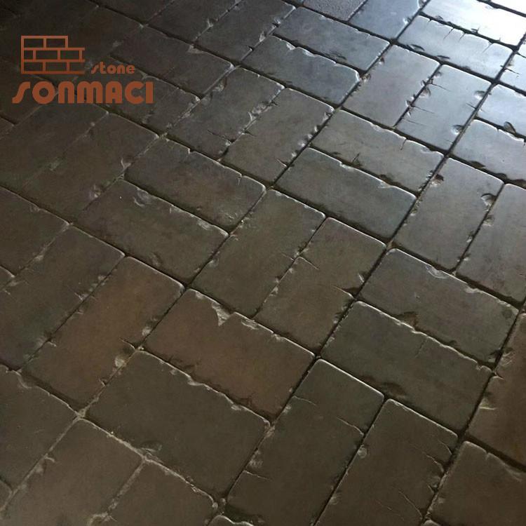 natural stone black slate flooring tile