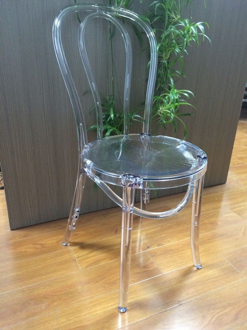 Hot Item Stackable Resin Thonet Chair Acrylic Bentwood Chair For Dining