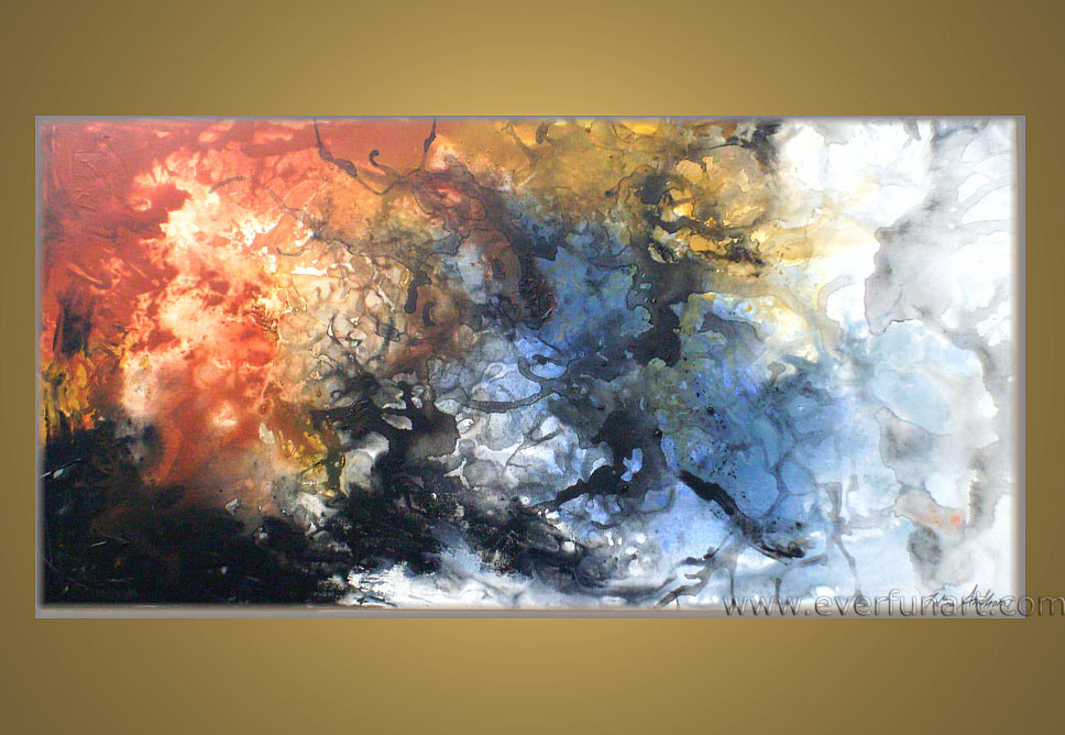 China Modern Abstract Art Oil Painting On Canvas (XD1-003