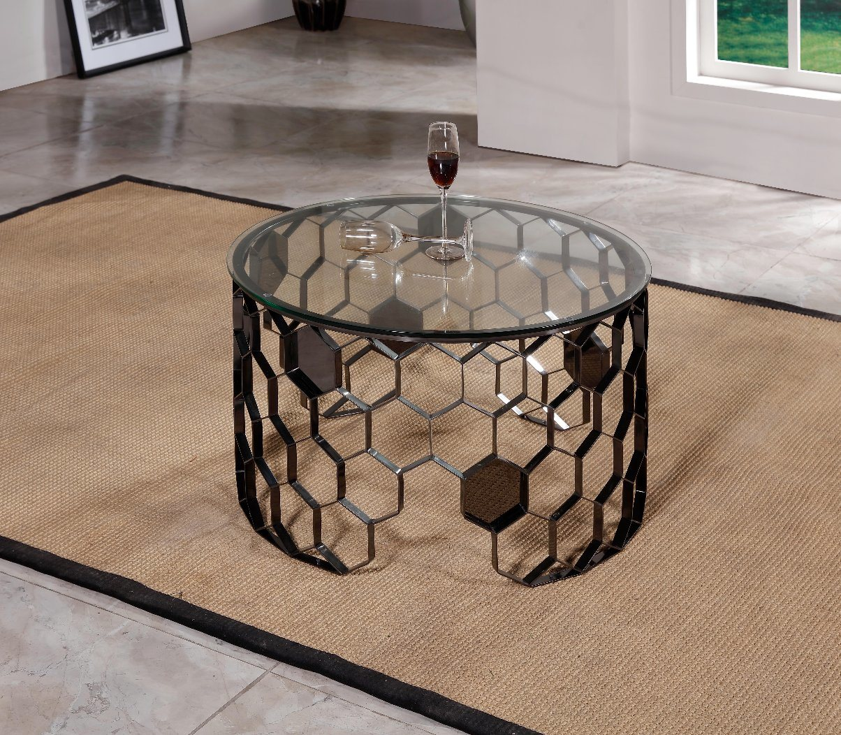 china side table glass round coffee