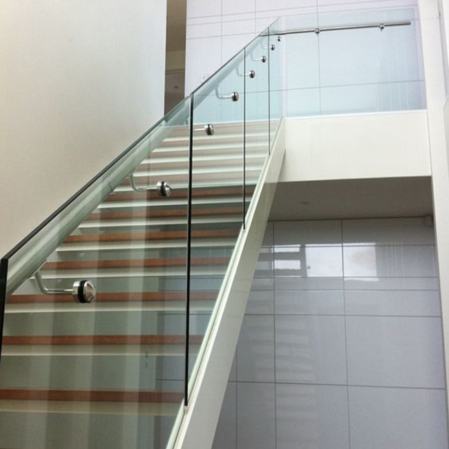 China Tempered Glass U Channel Railing Interior Stairs Railing | Stairs Railing Design In Glass | Indoor Home Depot | Fancy | Painting | Modern | Interior Residential Metal