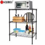 Hot Item Light Duty 3 Tier Black Wire Shelving Rack Steel Home Kitchen Shelf Storage Organizer