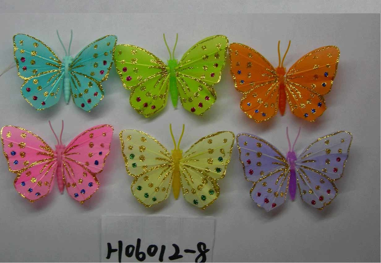China Artificial Crafts Artificial Feather Butterfly