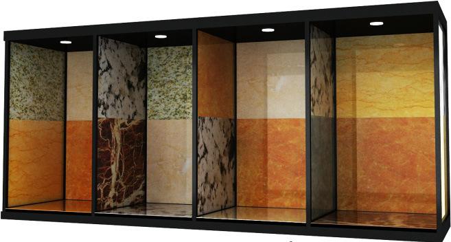 china ceramic tile sample displays