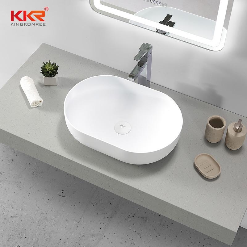 hot item thin edge bathroom solid surface countertop table top wash basin