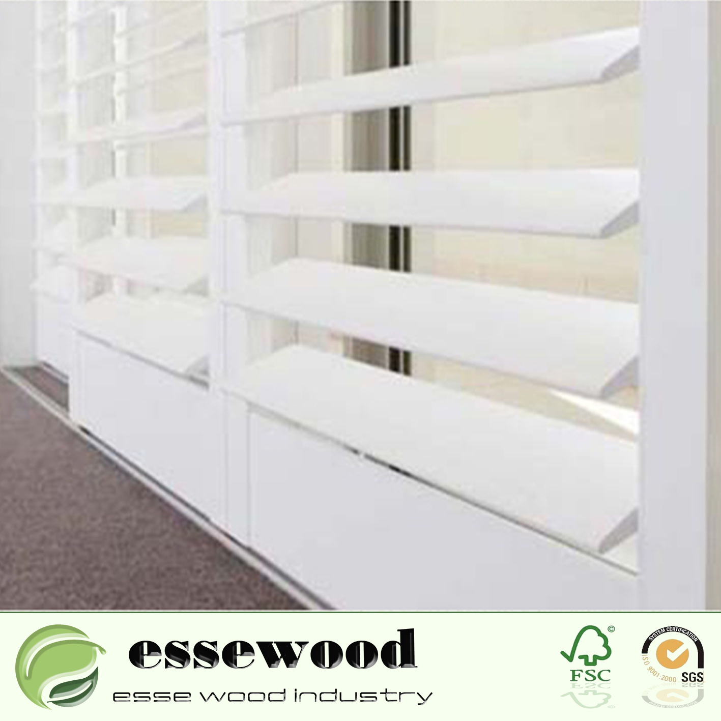 China Reinforced Movable Louver Decorative White Interior
