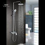 Hot Item Mandel Bathroom Shower Systems Rainfall Shower Head Handheld Shower Head And Shower Faucet Bathroom Luxury Rain Shower