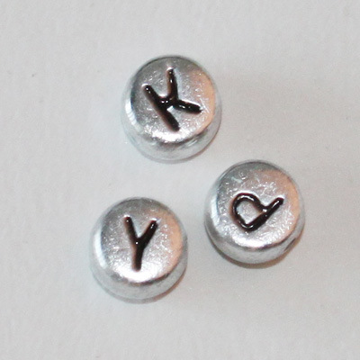 China Silver Alphabet Beads AL 060102 China Alphabet