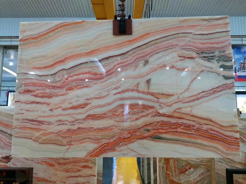 china home decoration pink marble stone
