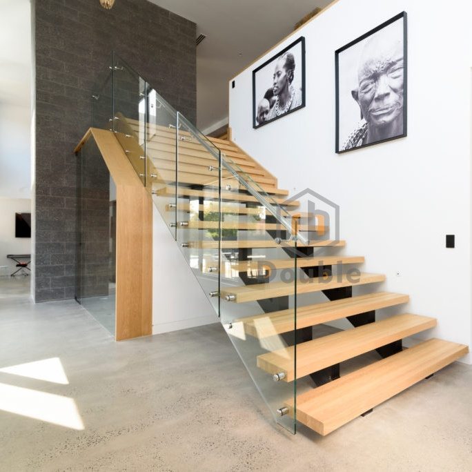 Modern Stairs Design Glass Railing Wood Steps Staircase China   Staircase Design Wood Glass   Dark Wood   Modern Style Glass Railing   Spiral   Before And After   Timber