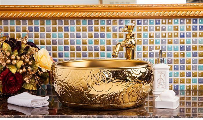 modern porcelain bathroom sink