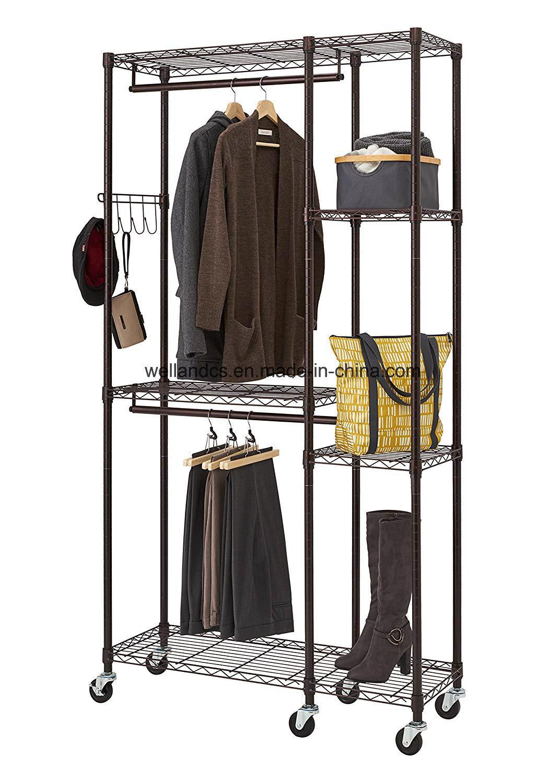 china moveable portable metal garment