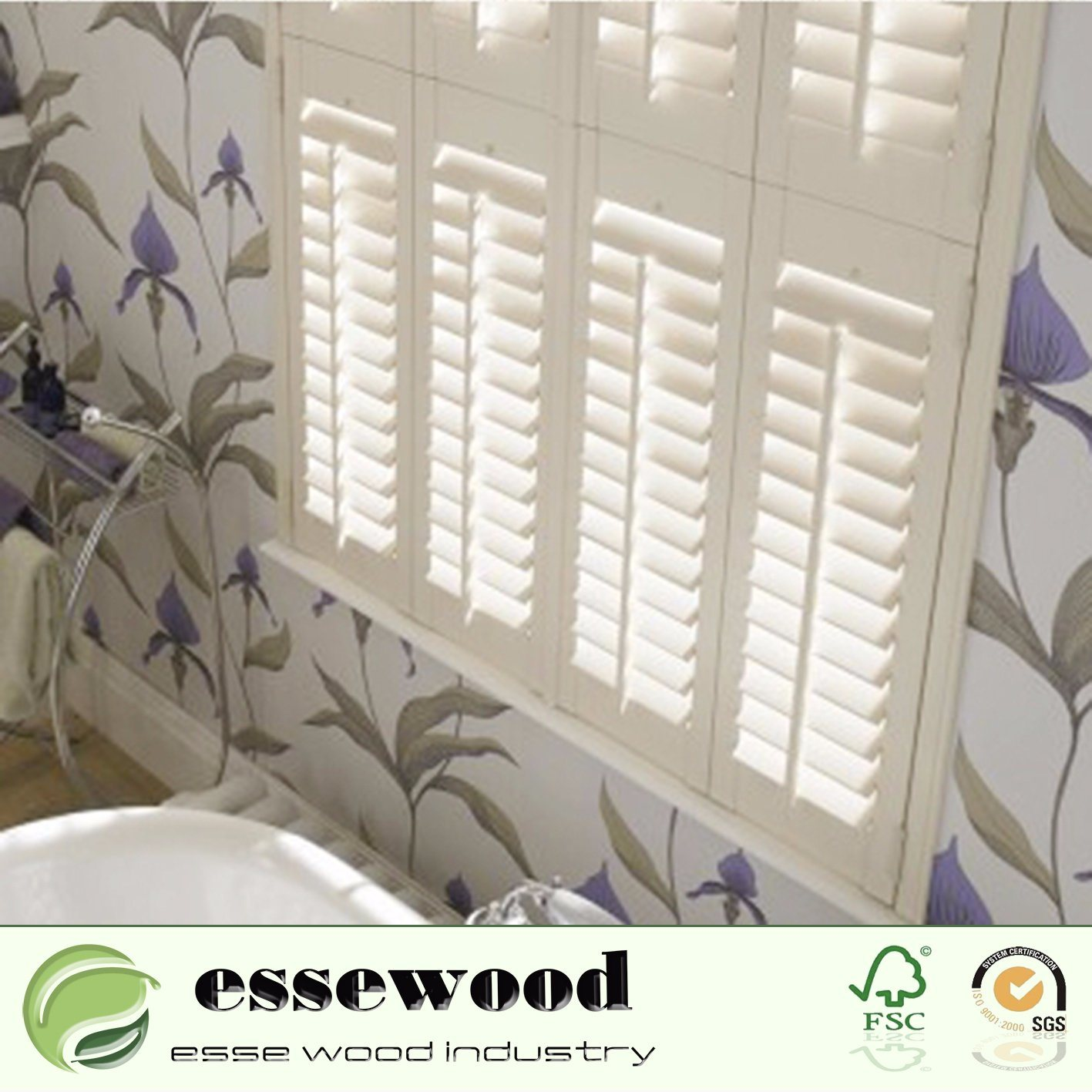 Hot Item Reinforced Movable Louver Decorative White Interior Pvc Or Wood Plantation Shutters