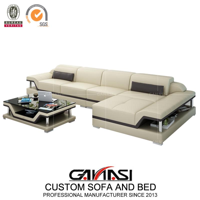 China Ultra Modern Small Size White Leather Corner Sectional Sofa China Corner Sofa Leisure Sofa