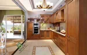 Hot Item Solid Wood Kitchen Cabinets Pakistan Style Zs 301