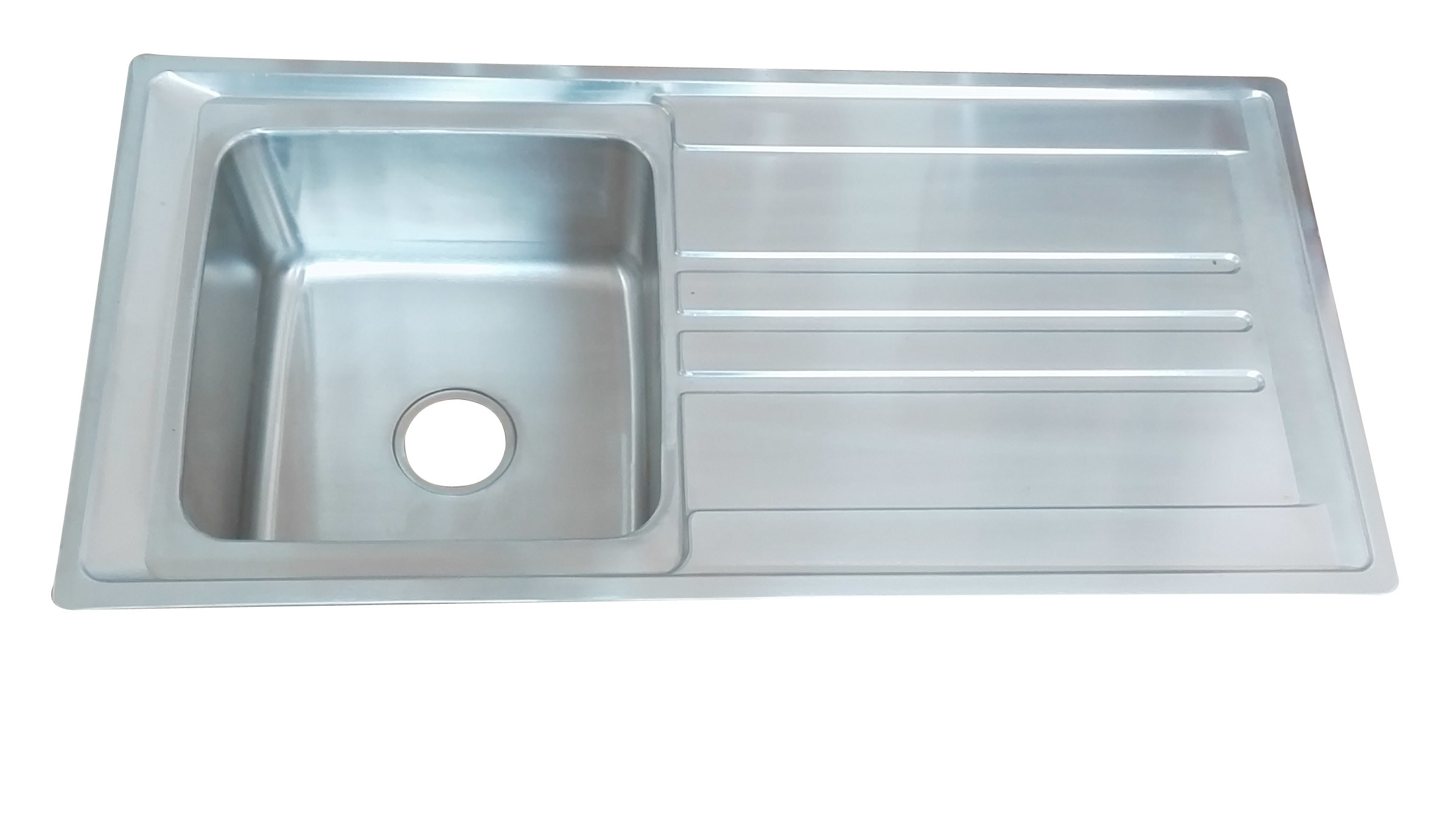 hot item single bowl 10050 stainless steel above counter wash kitchen sink with cutting board
