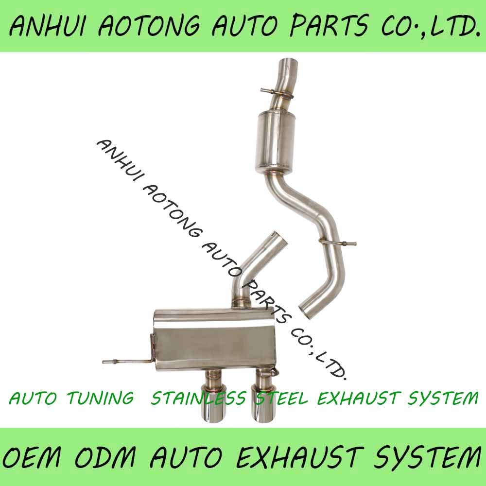 hot item auto tuning stainless steel exhaust system exhaust downpipe exhaust tailor pipe silencer
