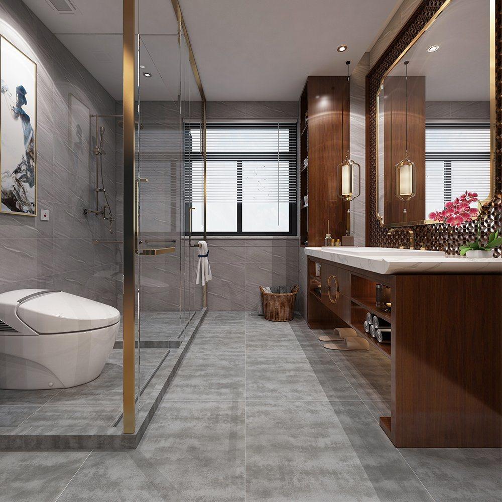 modern bathroom shower floor tile