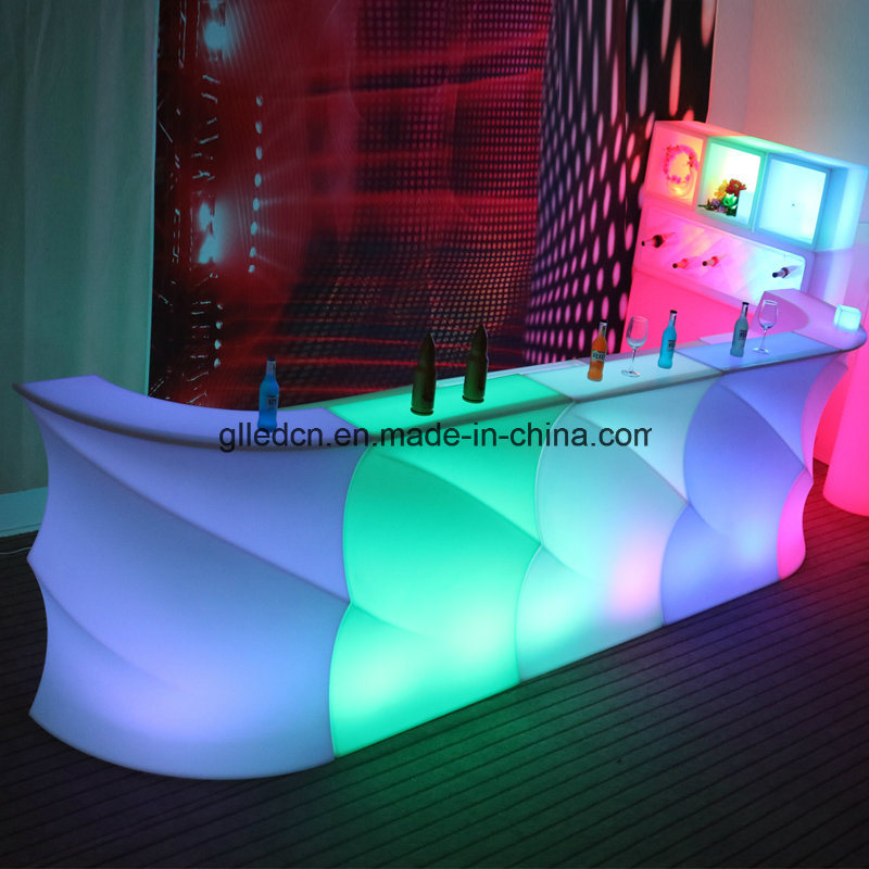 elegant event lighting movable bar counter