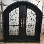 China Front Doors For Houses With Windows Screen Frame And Black Door Knobs Wrought Iron Front Door Iron Security Gate Wrought Iron Double Doors China Wrought Iron Door Iron Front Doors