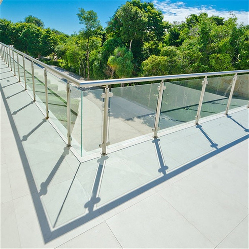 China Balcony Garden S S Railing Glass Post Handrails For Outdoor | Garden Handrails For Steps | Modern Hand | Wooden | Free Standing | Solid Wood | Stair Railing