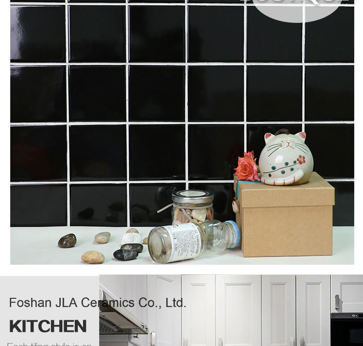 hot item 8x8inch 20x20cm black discontinued ceramic floor tile discontinued tile