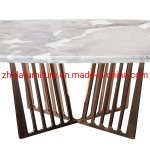 China Luxury Metal Base Artificial Marble Top Coffee Table For Home Furniture Living Room China Living Room Coffee Table Marble Side Table