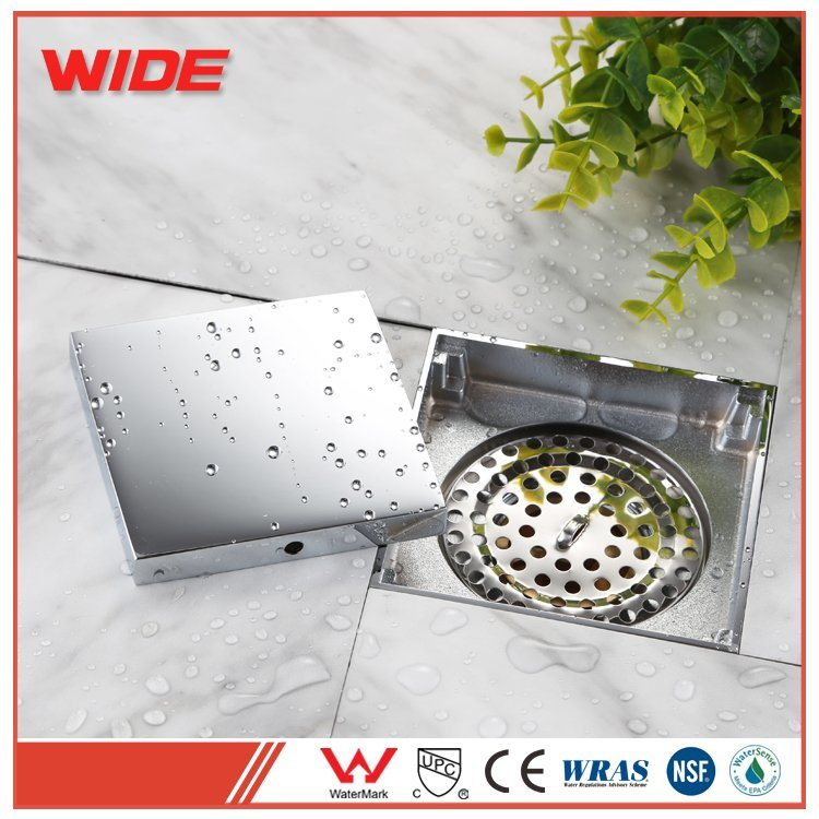 hot item square shower floor drain with tile insert grate bathroom fittings with cheap price