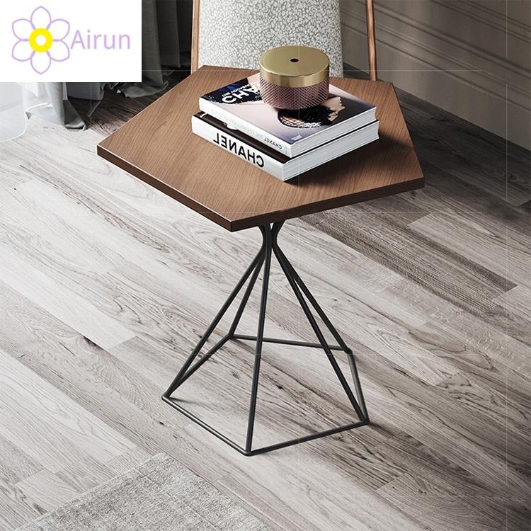 hot item furniture wholesale living room custom wood tea table metal frame wooden top coffee table