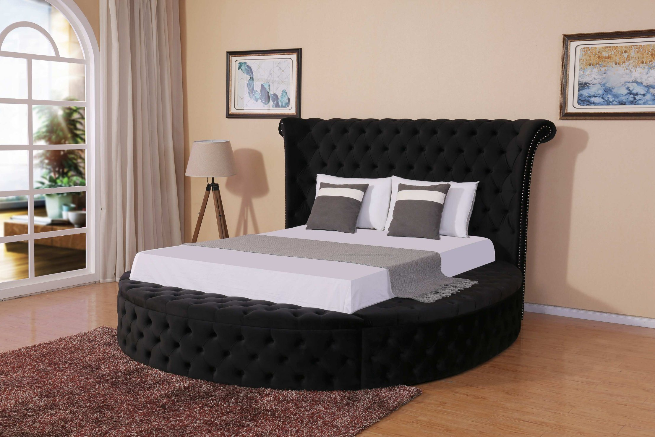 China Non Removable Bed Double Bed Bedroom Bed Big Round Buttons Bed Furniture China Double Bed Bedroom Bed