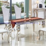 China Small Glass Dining Table And 4 Chairs Infinity White Leather Stainless Steel X Deco Chairs China Metal Restaurant Chairs White Dining Chairs
