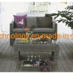 China Indoor Or Outdoor Patio Rattan Furniture Sets Loveseat Sofa Wicker Chair And Table China Square Rattan Furniture Love Seat Garden Furniture