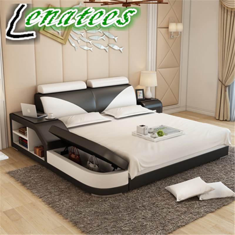 China Lb8817 New Model Bedroom Furniture Bed with Storage ... on New Model Bedroom Design  id=41239