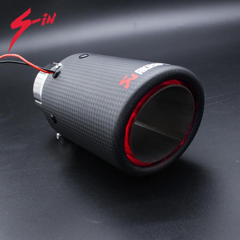 led light exhaust muffler