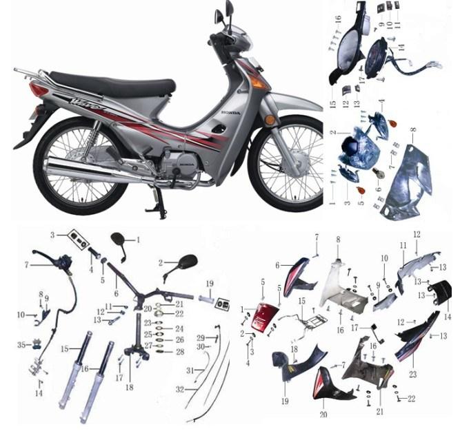 Honda Wave Parts on Honda Rs 125 Motorcycle Wiring Diagram