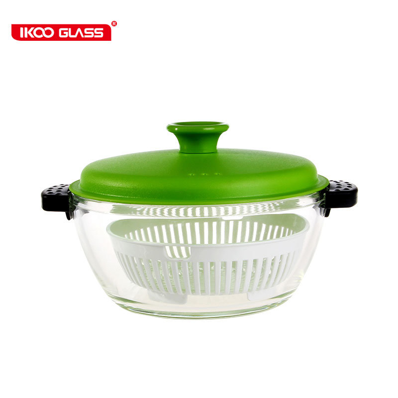 hot item glass pot with pp lid and pp steamers