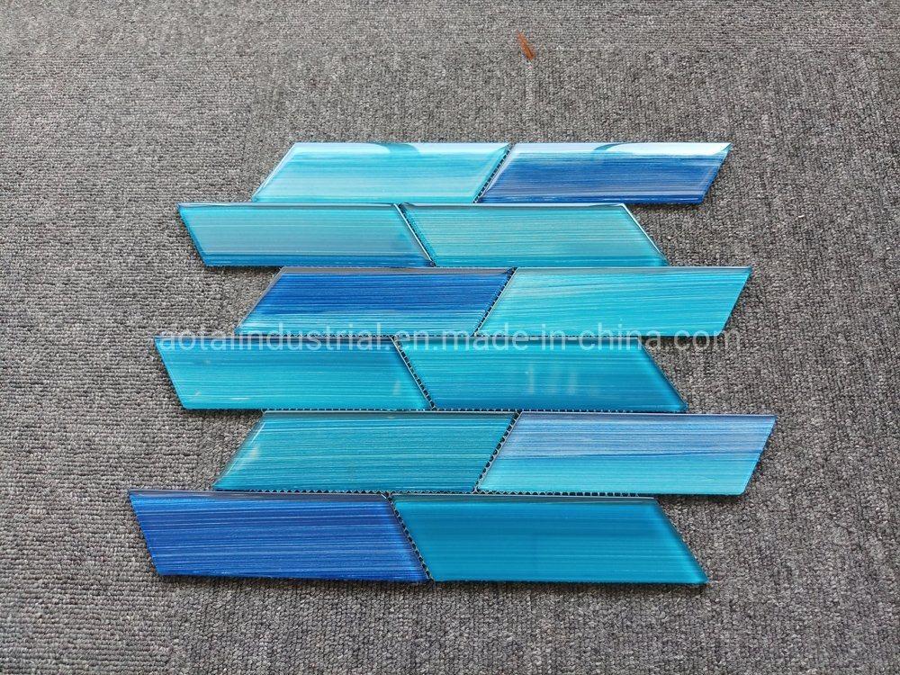 hot item fashionable design blue glass mosaic for glass tile kitchen backsplash