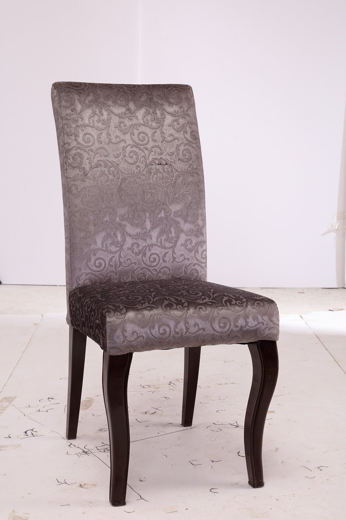 Hot Item Mid Century Dining Chair Modern Design High Straight Back Chair Star Hotel Furniture Chair